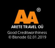 d6188b6aea9 Arete Travel OÜ Reg.nr. 11055091. KMKR EE100914106 TRE 000576
